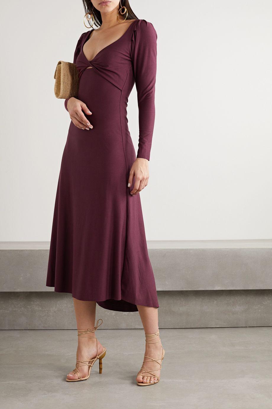 Johanna Ortiz Philosophy twist-front cutout stretch-jersey midi dress