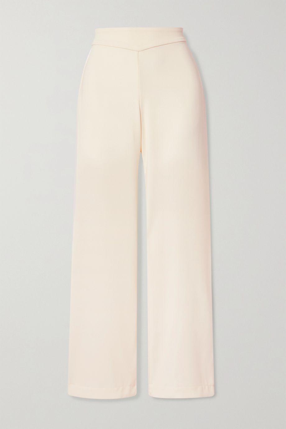 Johanna Ortiz Palpitating crepe flared pants