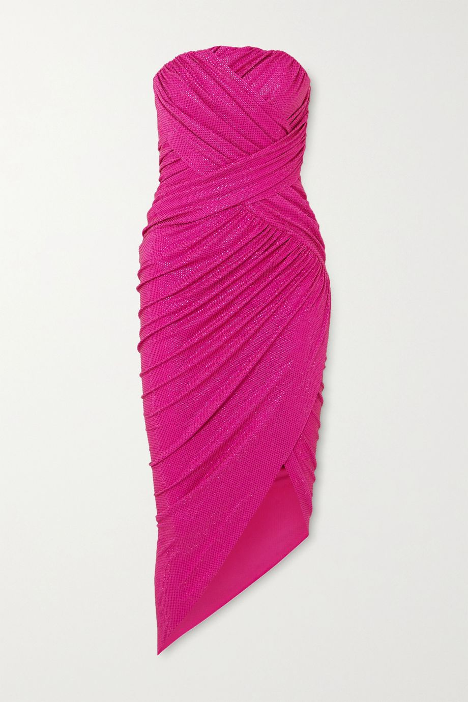 Alexandre Vauthier Strapless crystal-embellished stretch-jersey midi dress