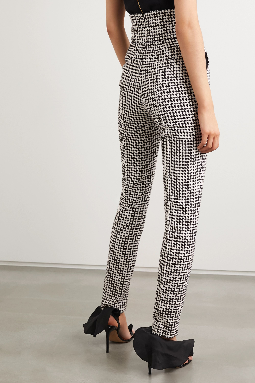 Alexandre Vauthier Houndstooth cotton-blend slim-leg pants