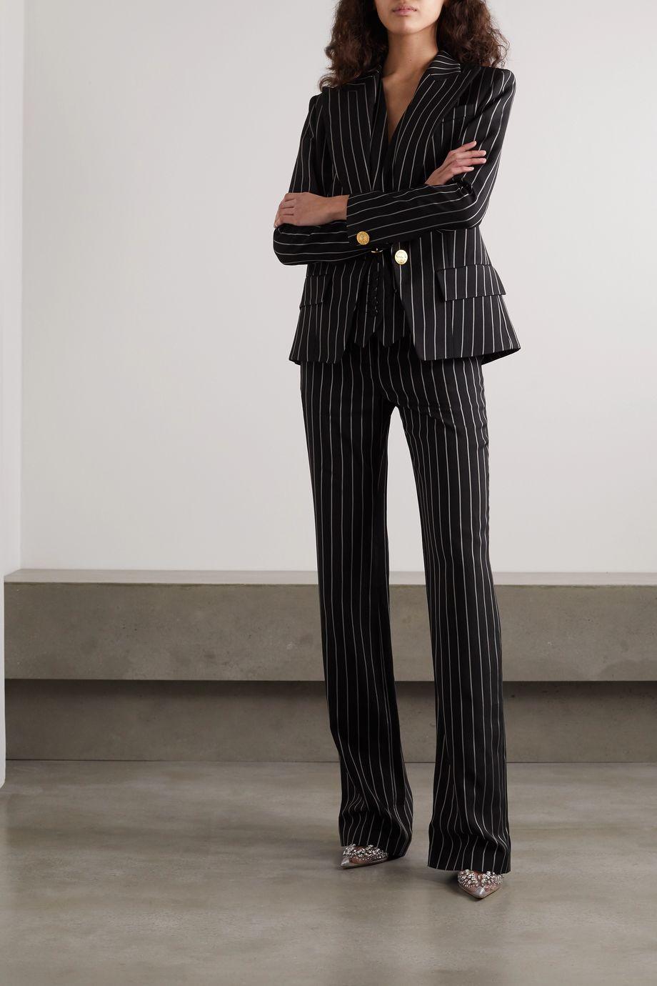 Alexandre Vauthier Pinstriped twill wide-leg pants