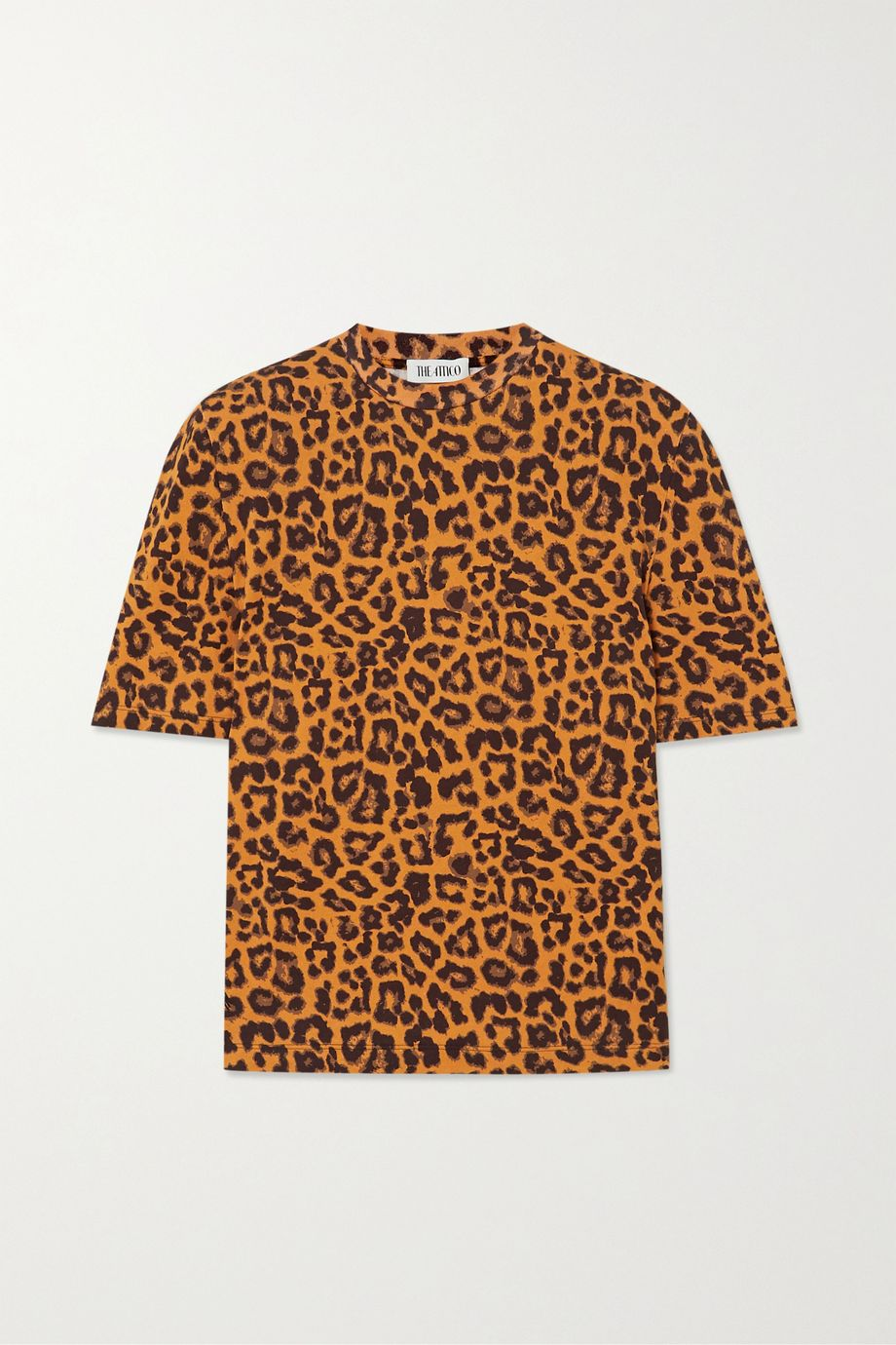 The Attico Bella leopard-print cotton-jersey T-shirt