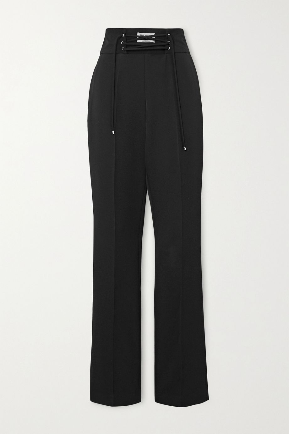 The Attico Lace-up wool-gabardine straight-leg pants