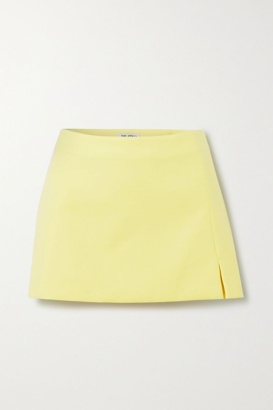 The Attico Cotton-blend twill mini skirt
