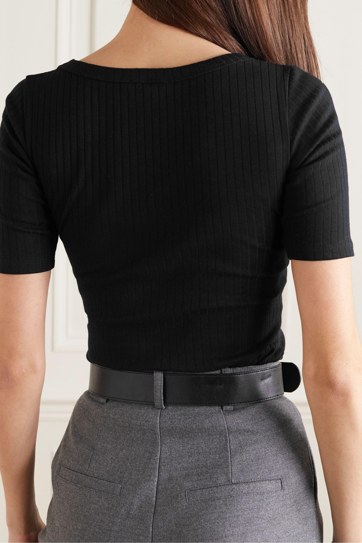 Ninety Percent Ribbed stretch-organic cotton-jersey T-shirt