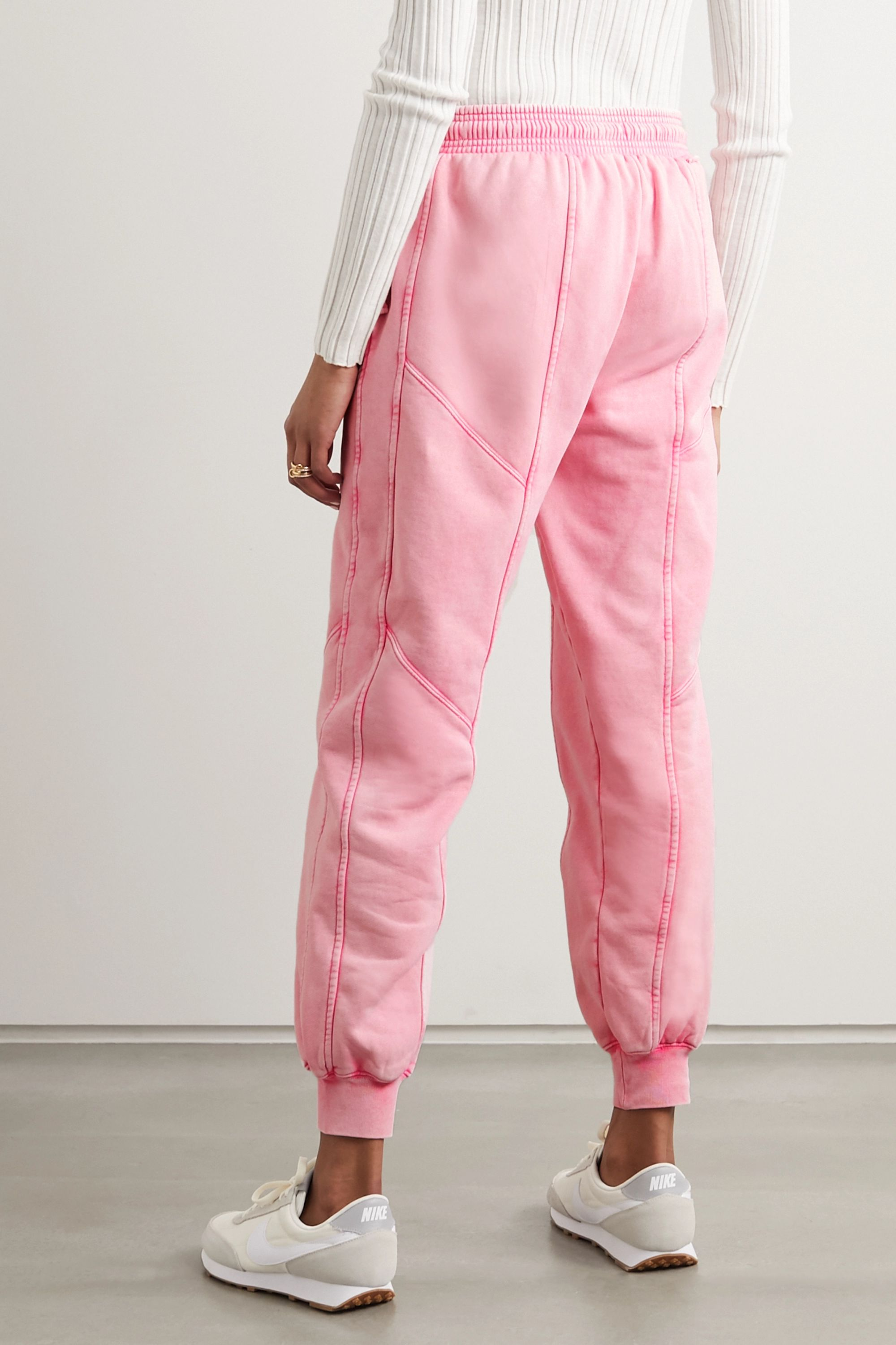 Ninety Percent Paneled organic cotton-jersey track pants