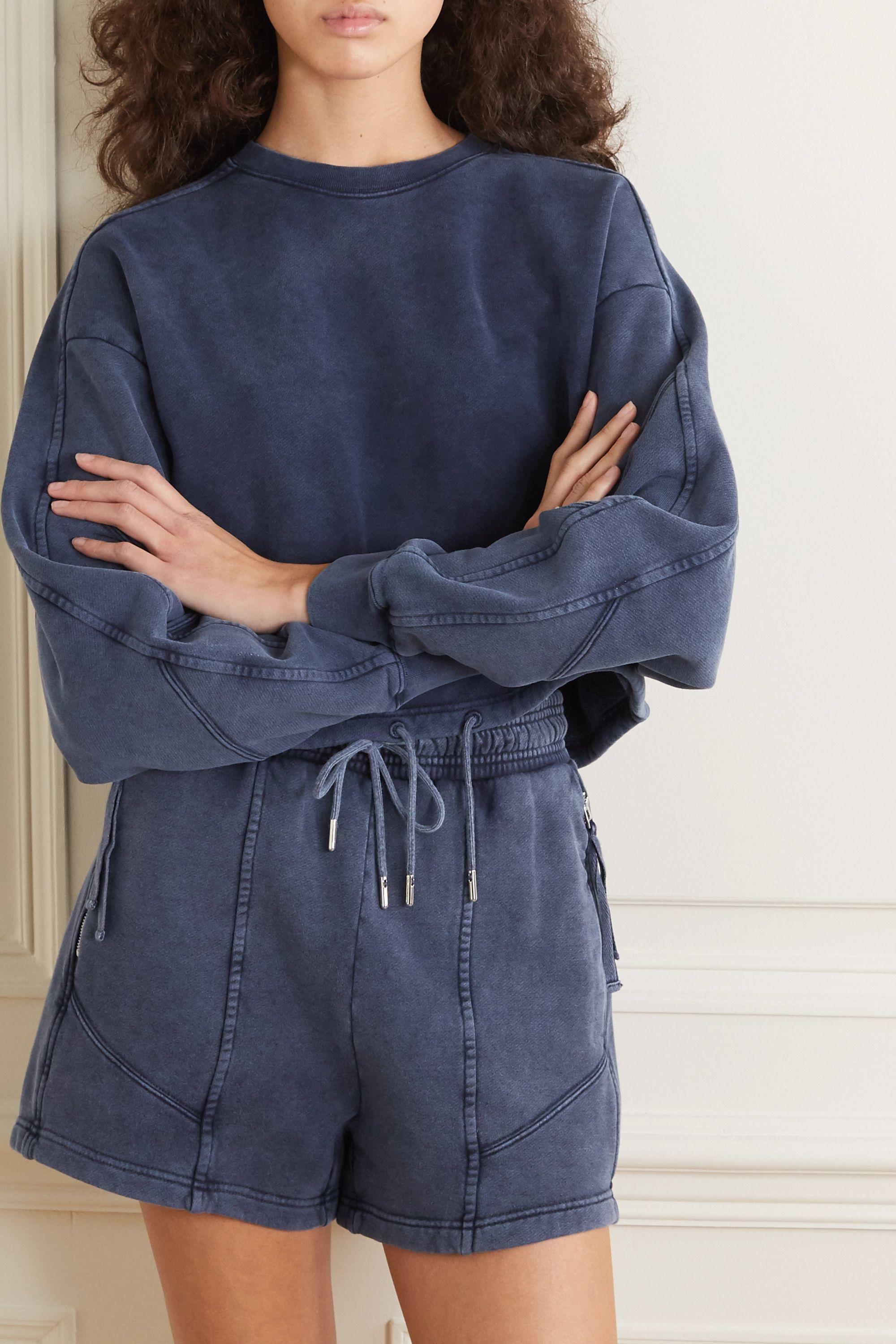 Ninety Percent Cropped paneled organic cotton-jersey sweatshirt