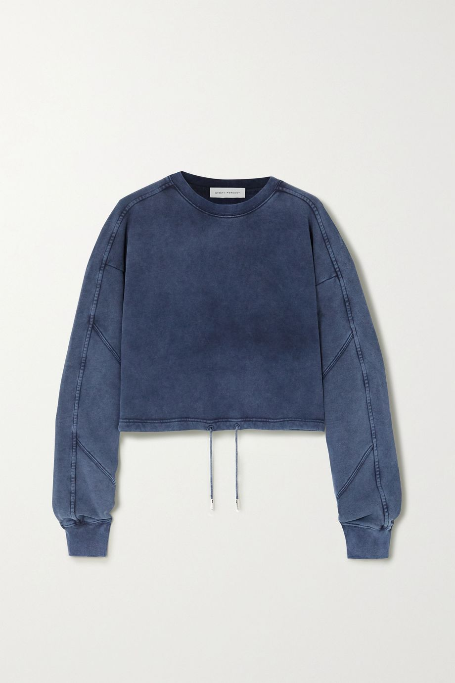 Ninety Percent Cropped paneled organic cotton-jersey sweatshirt
