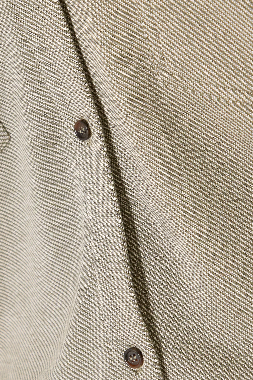 Ninety Percent Striped organic cotton-blend twill jumpsuit