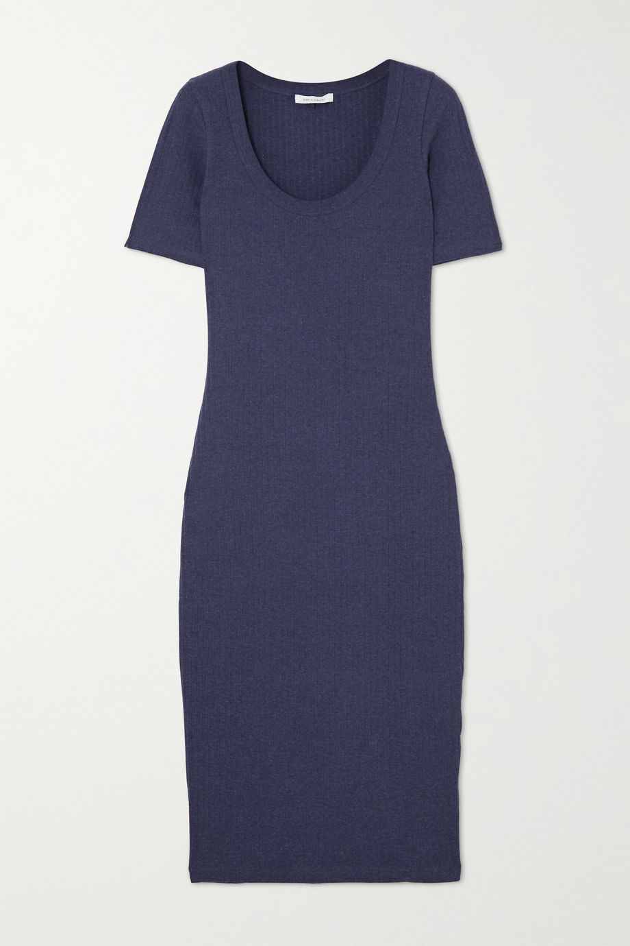 Ninety Percent Ribbed stretch-organic cotton midi dress