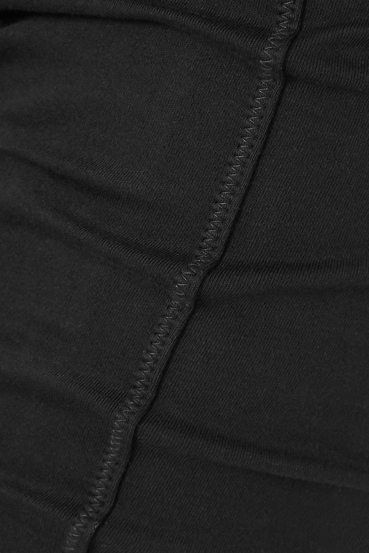 Black Cropped Stretch Organic Cotton-jersey Pants   Ninety Percent