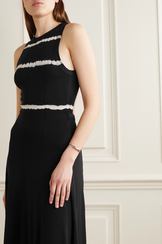 Ninety Percent Tie-dyed open-back stretch-Tencel midi dress