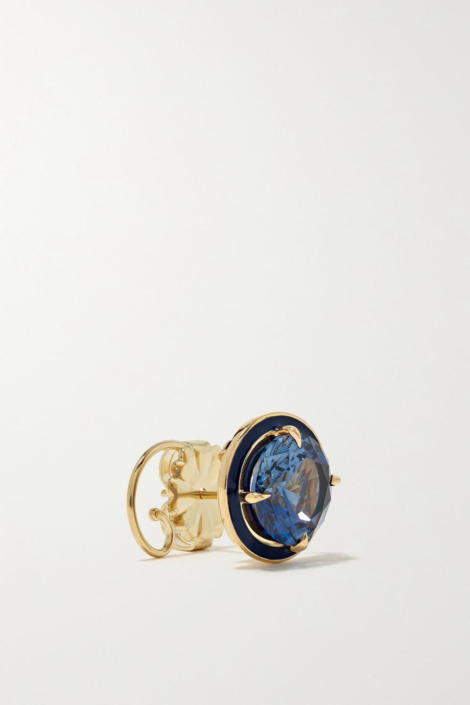 Alison Lou Ohrringe aus 14 Karat Gold mit Emaille und Saphiren