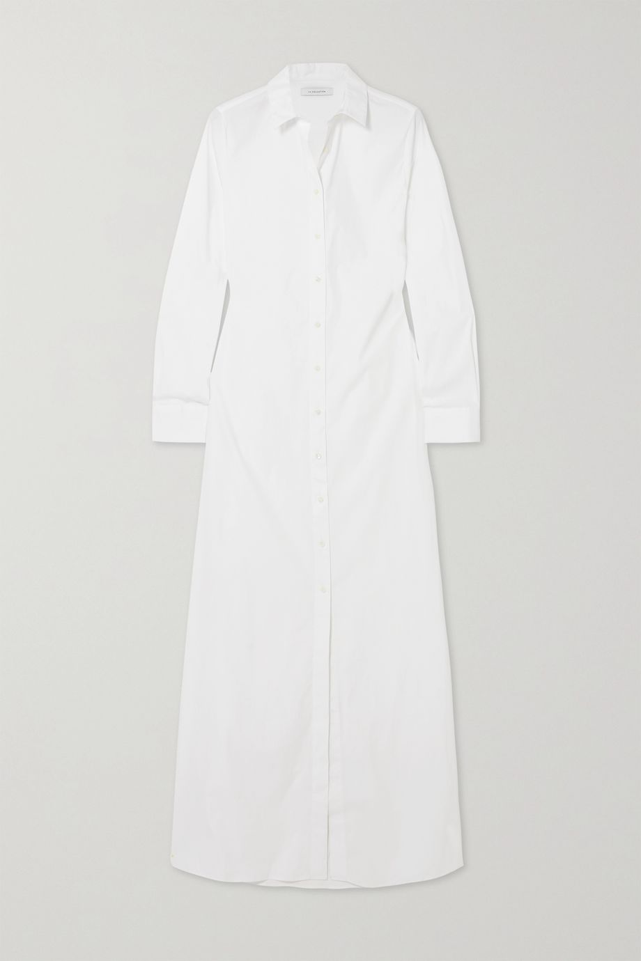 La Collection Ramona cotton-blend poplin maxi shirt dress