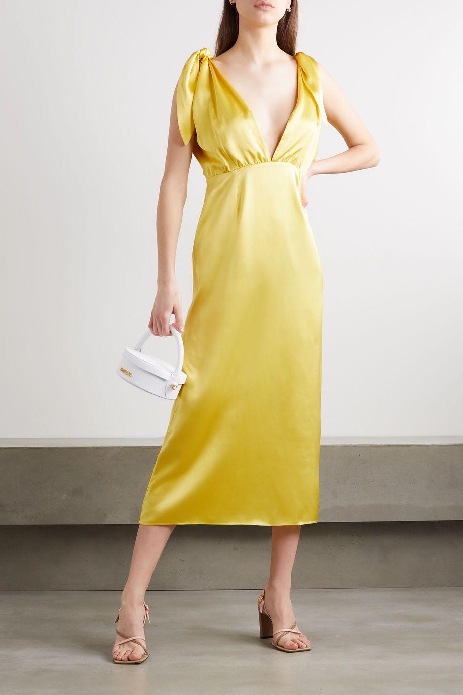 BERNADETTE John silk-satin midi dress