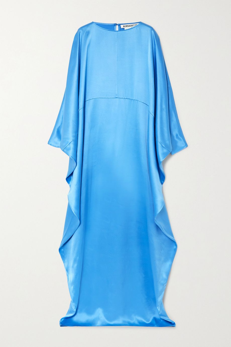 BERNADETTE Gio draped silk-satin maxi dress