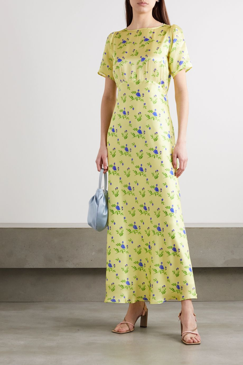 BERNADETTE Jane floral-print silk-satin maxi dress