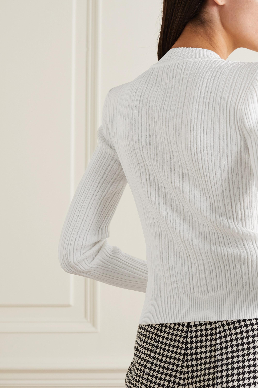 Balmain 纽扣缀饰罗纹针织开襟衫