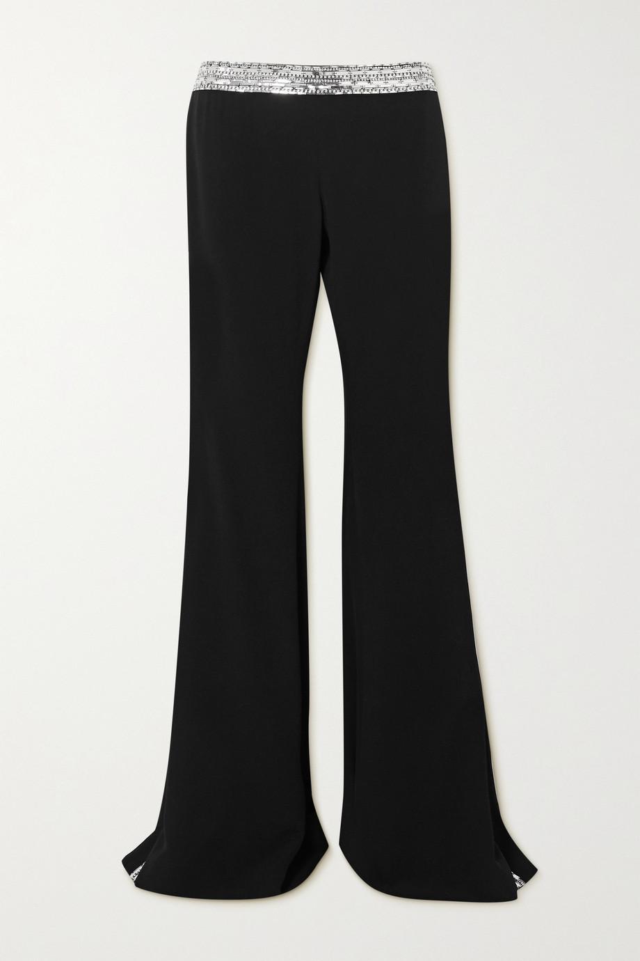 Balmain Embellished crepe flared pants
