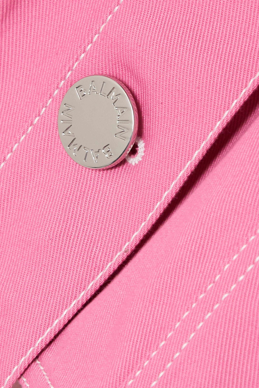 Balmain Cropped denim jacket