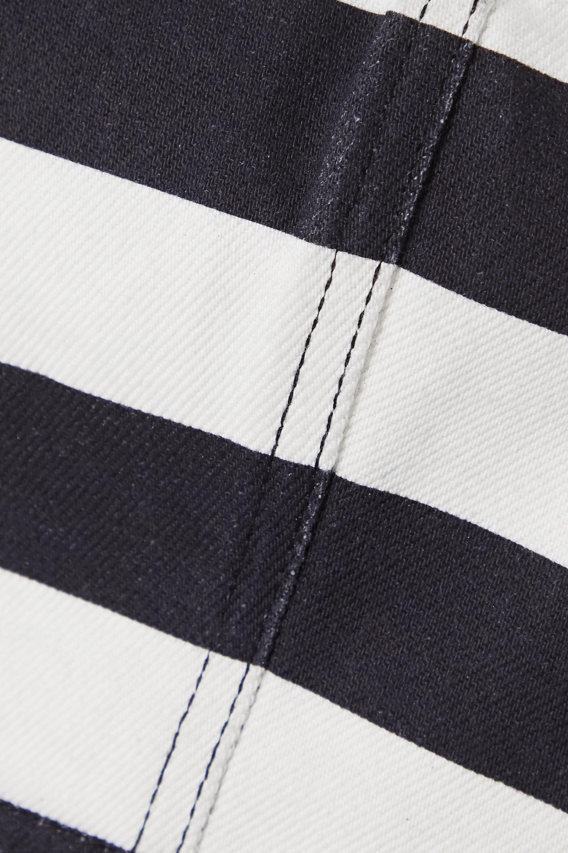 Balmain 条纹短款牛仔上衣