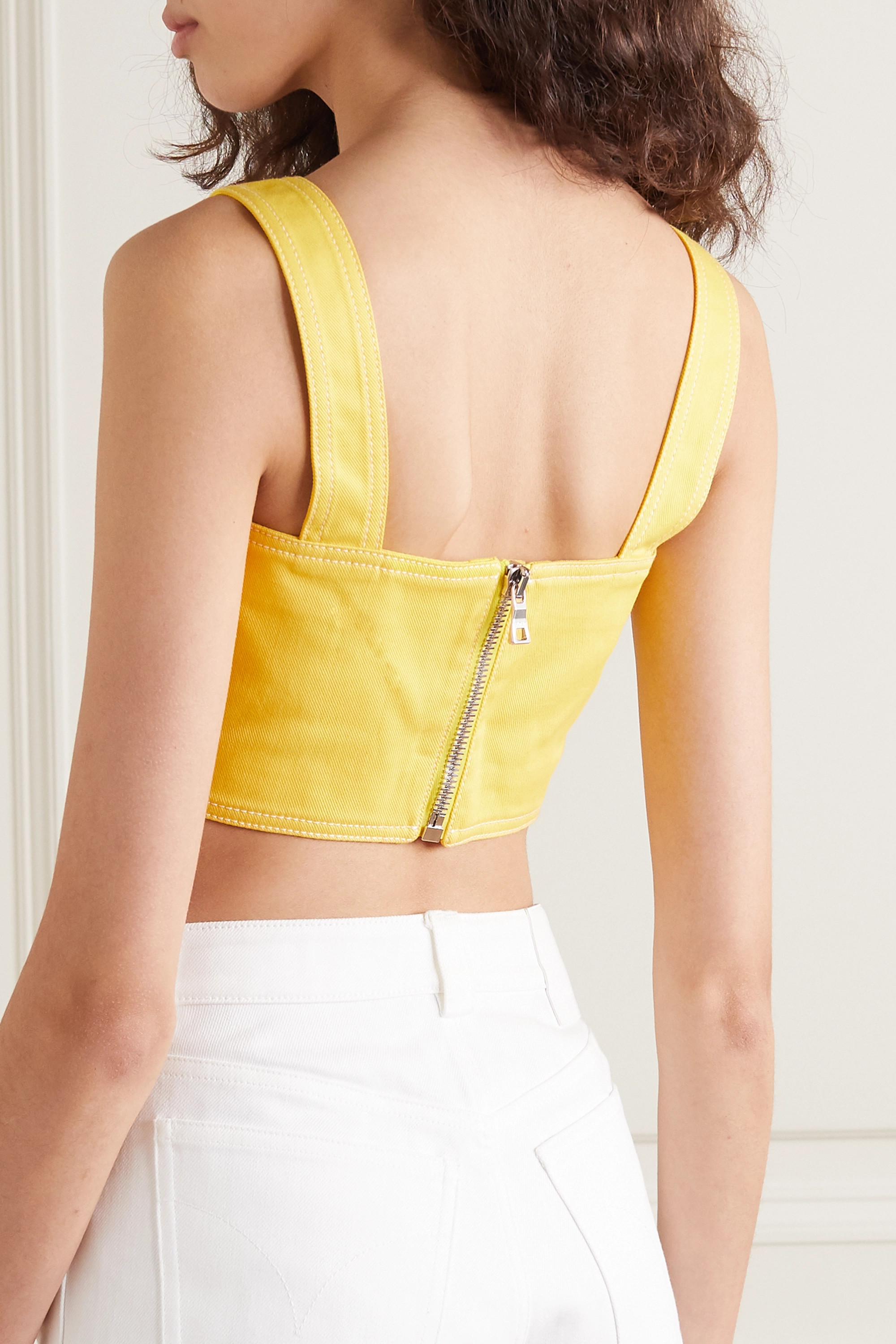 Balmain Cropped denim top