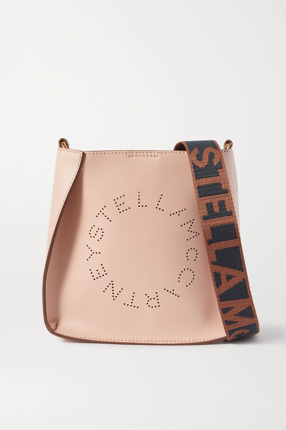Stella McCartney Small perforated vegetarian leather shoulder bag
