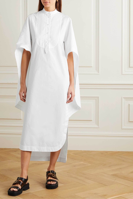 Lanvin Cape-effect cotton-poplin shirt dress
