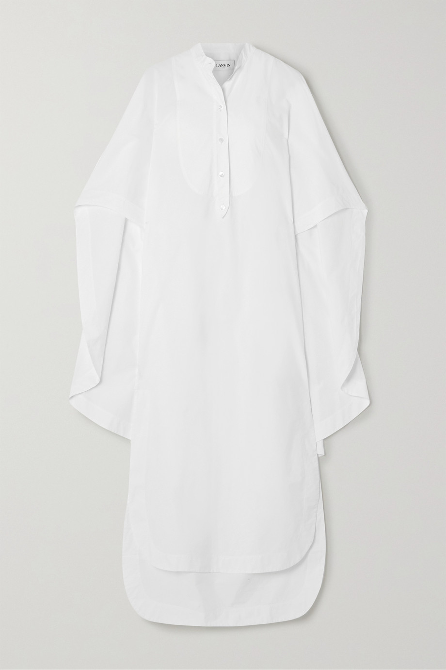 Lanvin Cape-effect cotton-poplin shirt dress