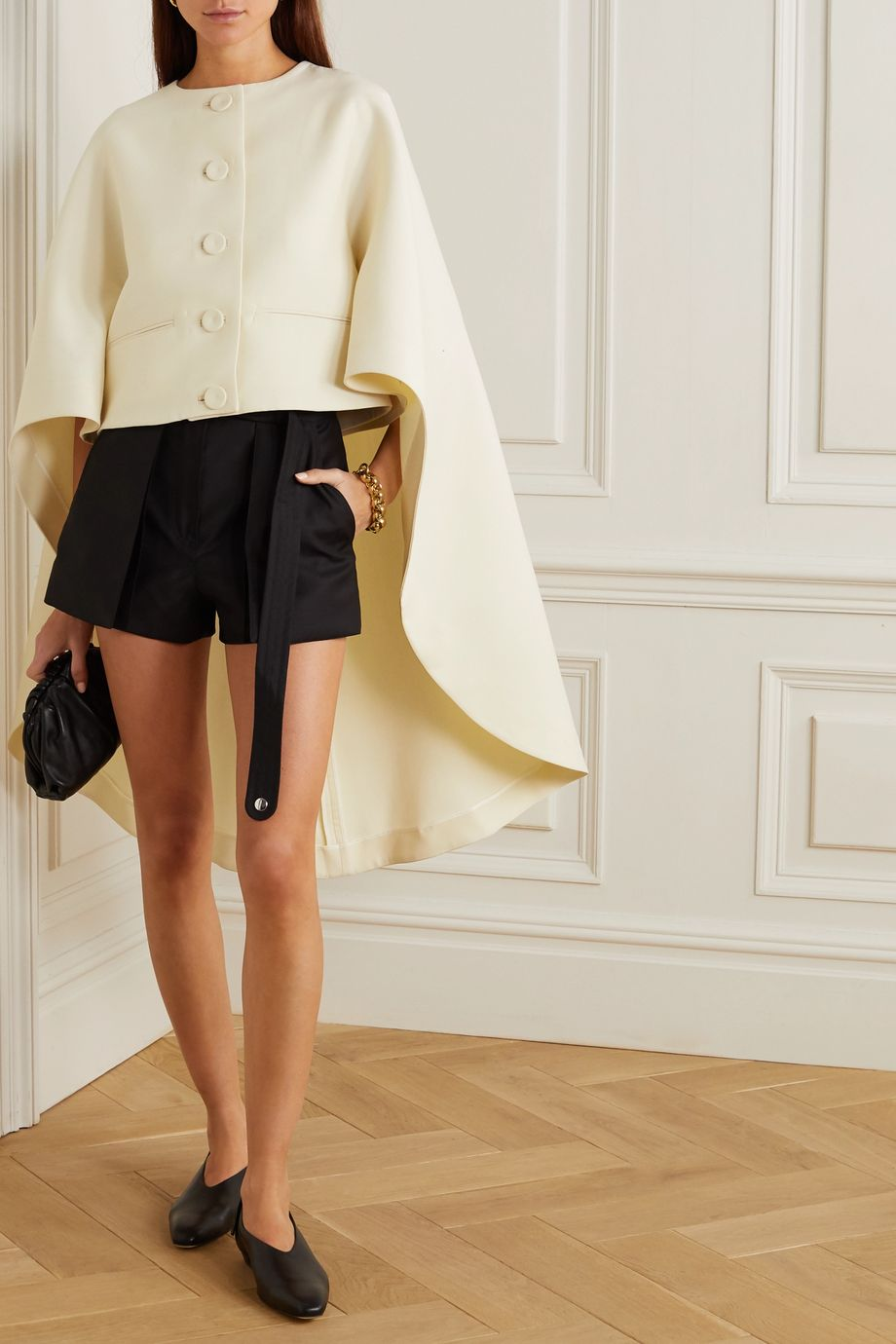 Lanvin Wool and silk-blend cape