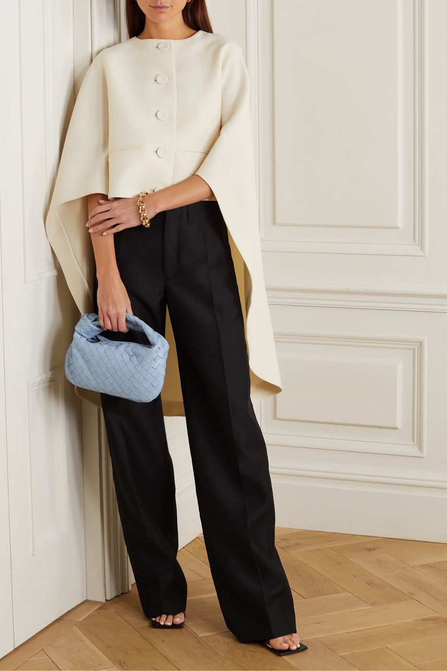 Lanvin Wool and silk-blend twill wide-leg pants