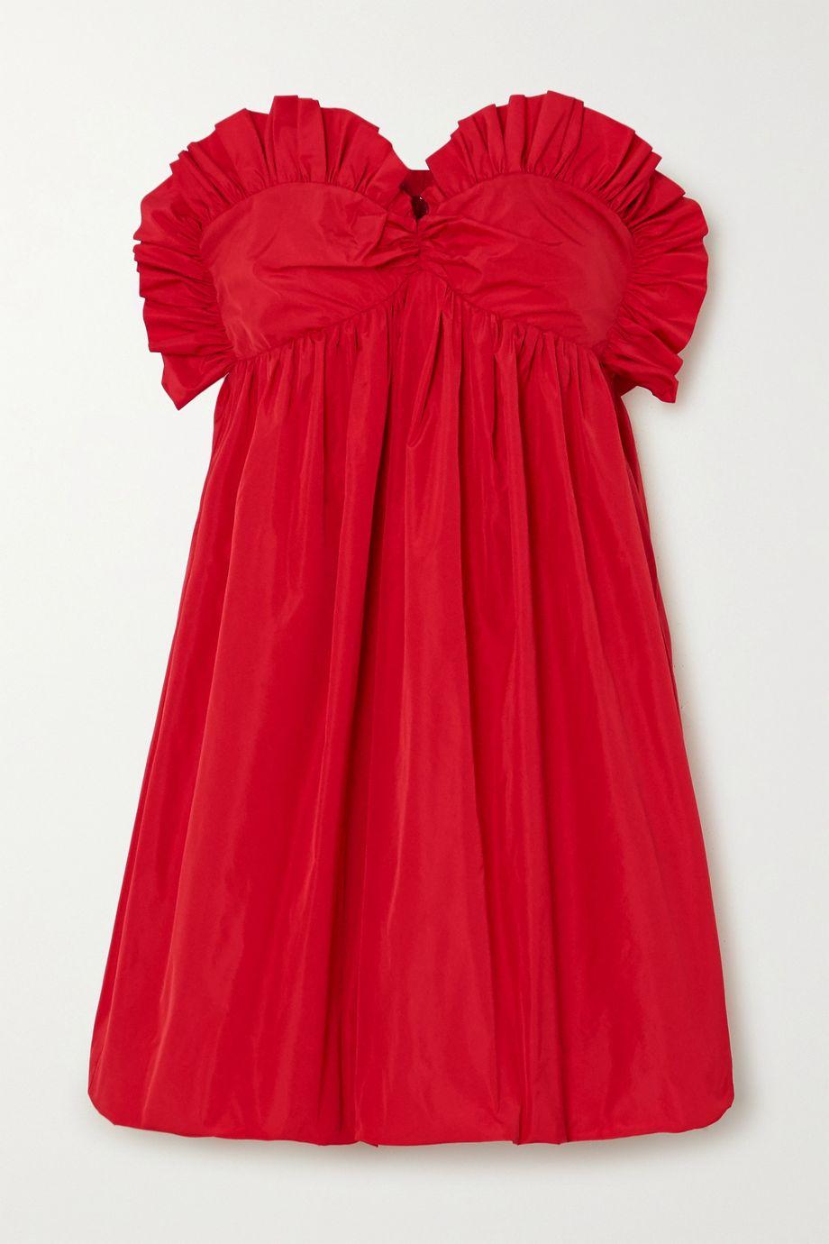 Philosophy di Lorenzo Serafini Strapless ruched taffeta mini dress