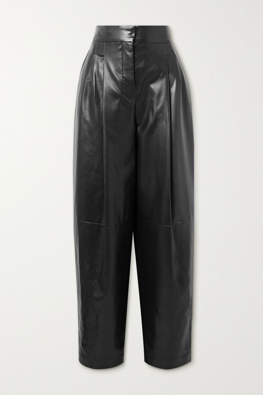 Philosophy di Lorenzo Serafini Faux leather tapered pants