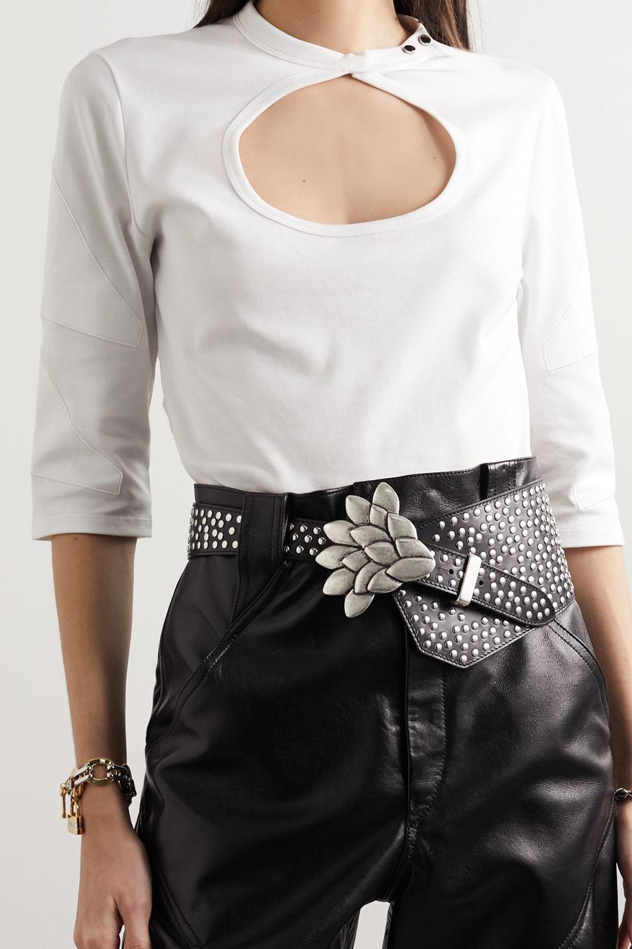 Isabel Marant Lowai studded leather waist belt