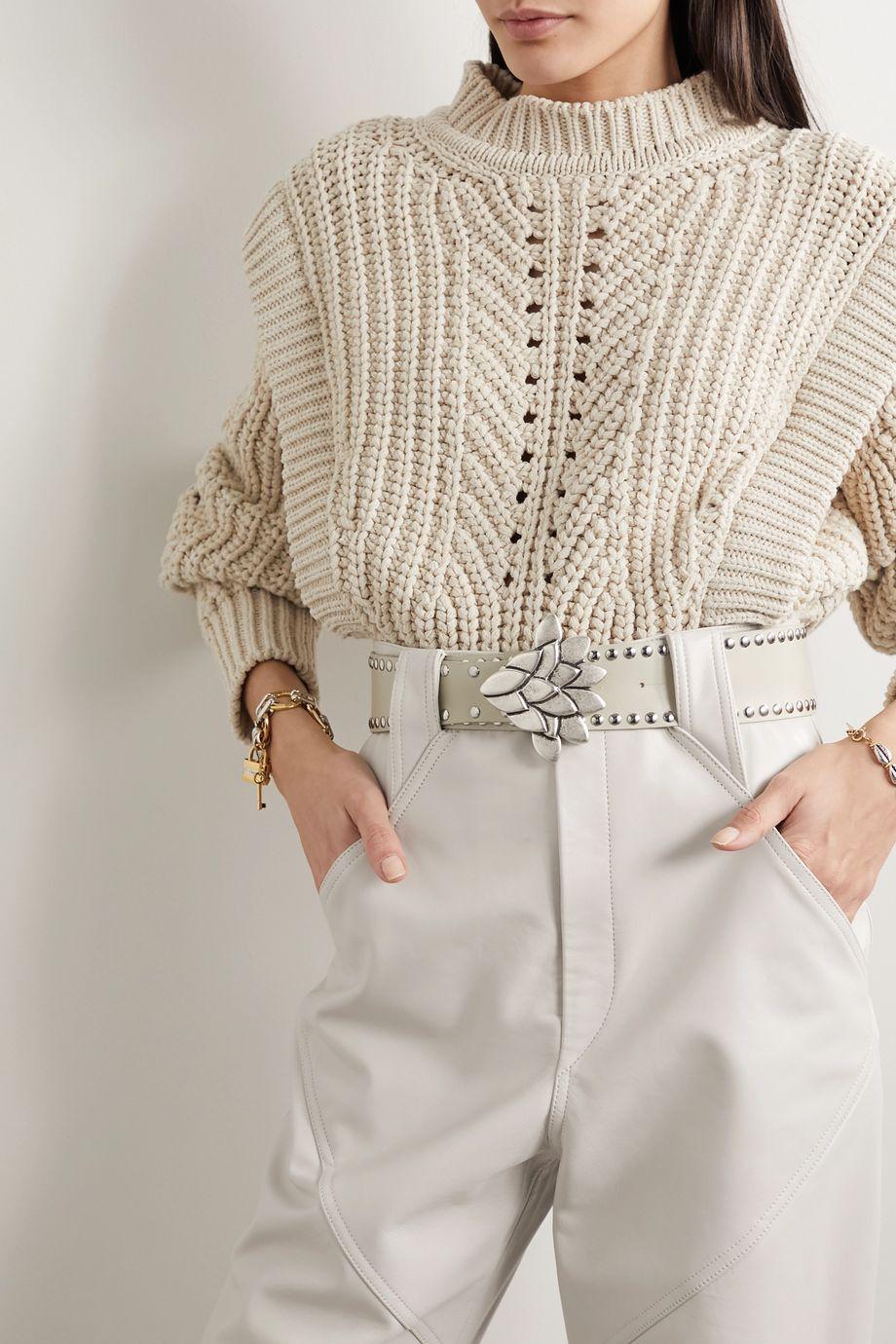 Isabel Marant Lowi Taillengürtel aus Leder mit Nieten