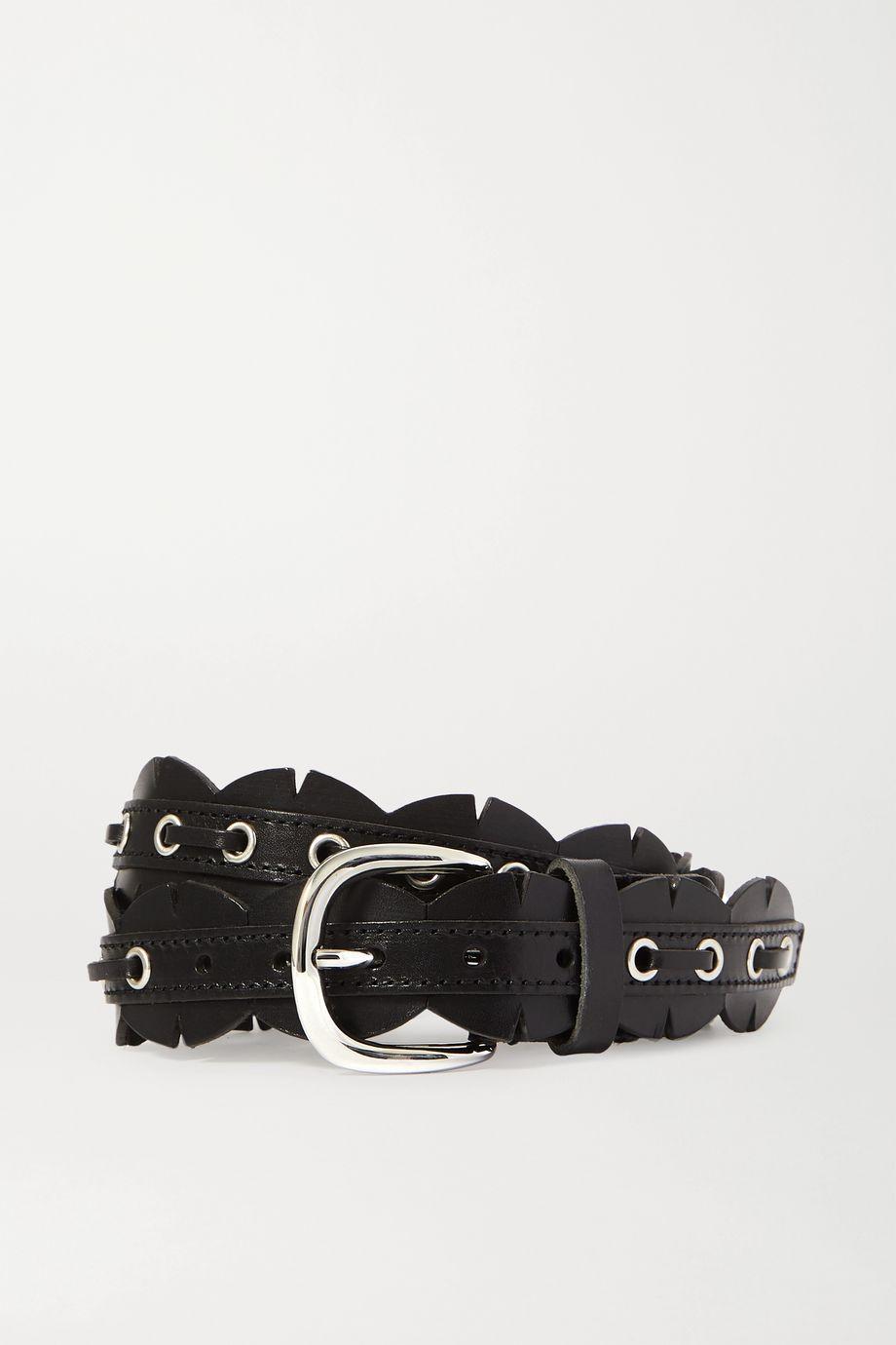 Isabel Marant Tany eyelet-embellished scalloped leather waist belt