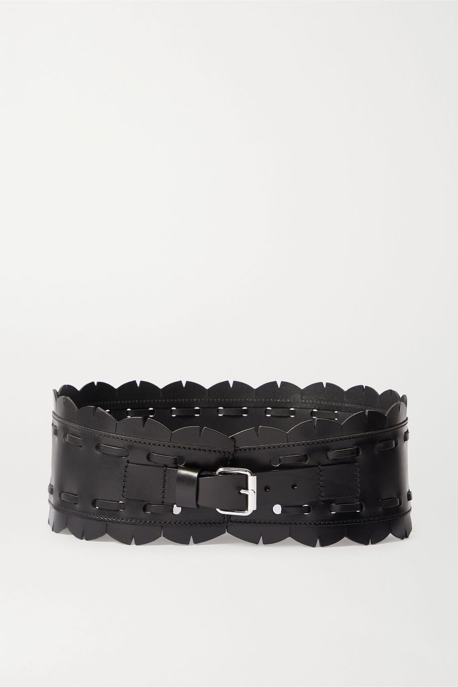 Isabel Marant Tendy topstitched leather waist belt