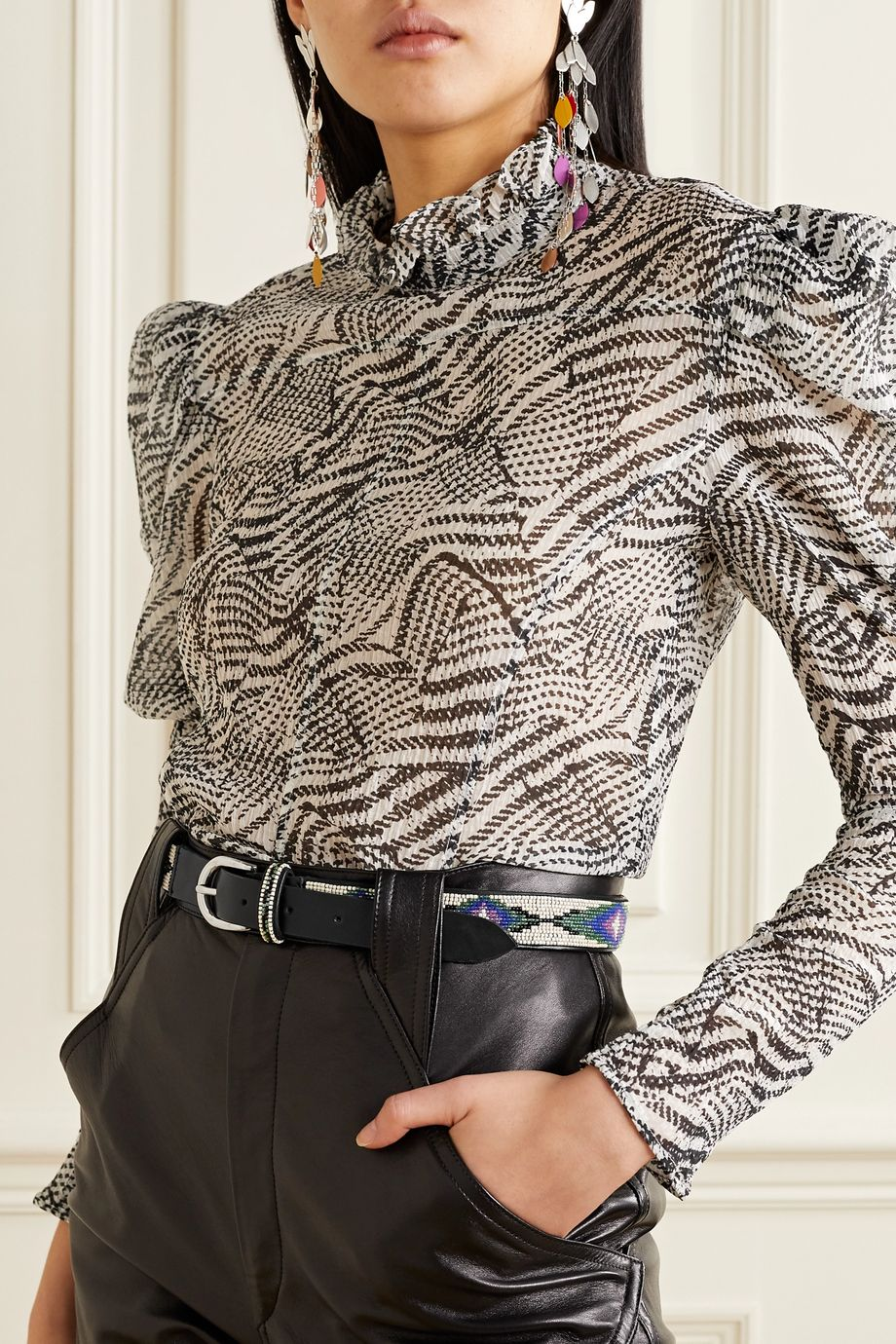 Isabel Marant Elsa beaded leather belt