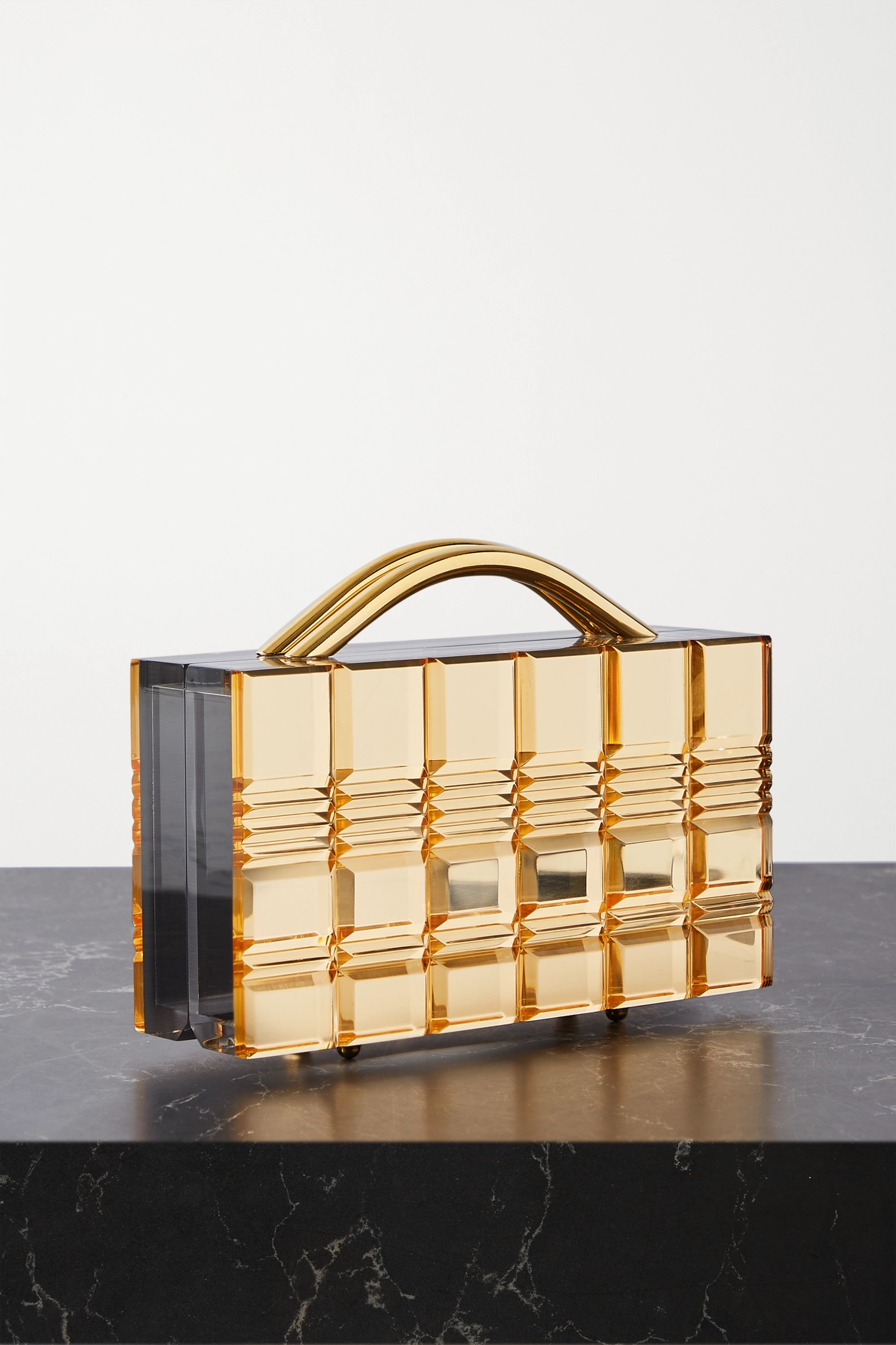 L'AFSHAR Grace mirrored-acrylic tote