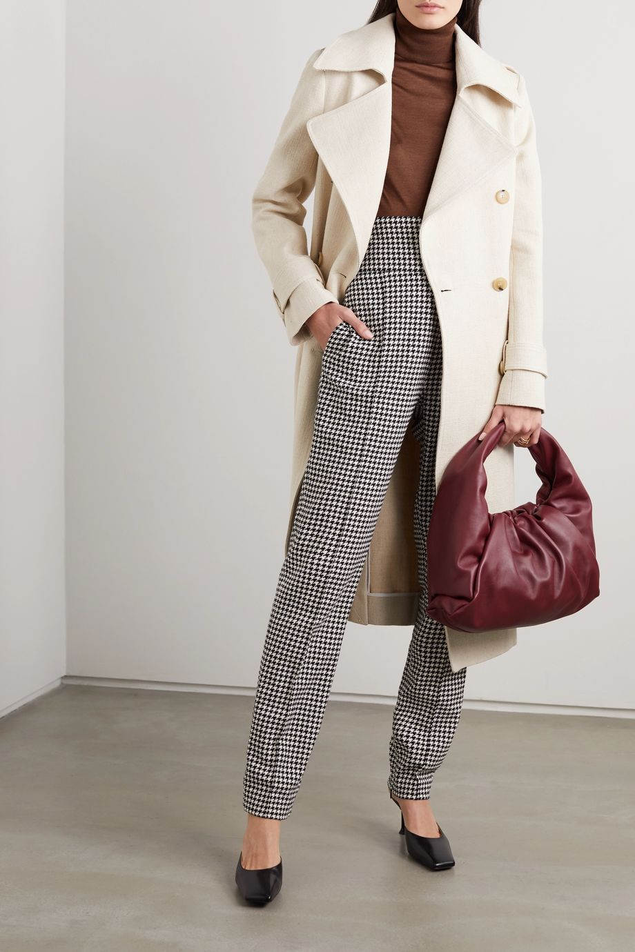 Victoria Beckham Cotton and linen-blend canvas trench coat
