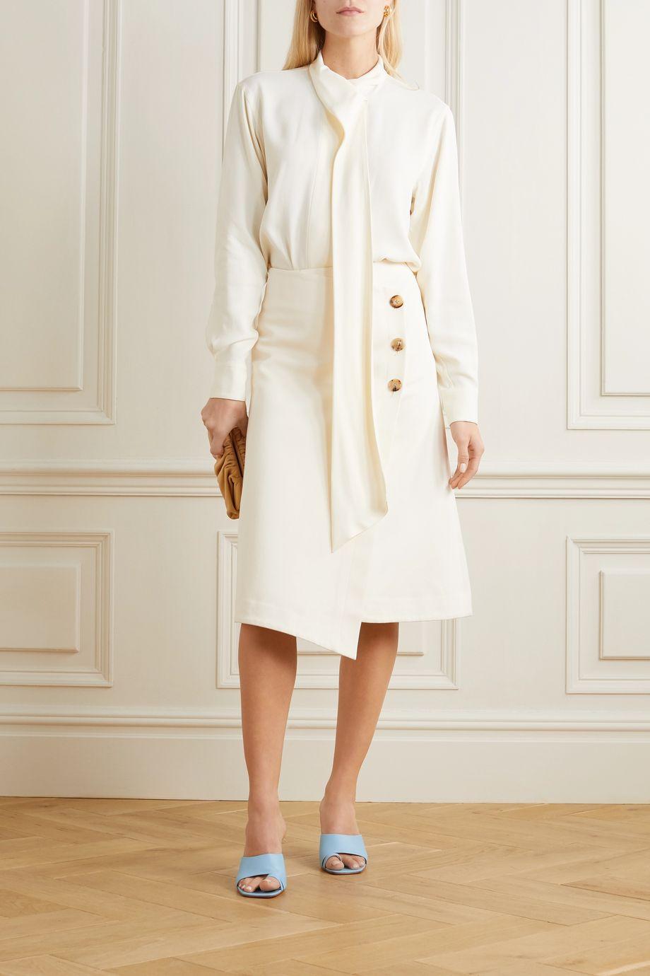Victoria Beckham Draped crepe de chine blouse
