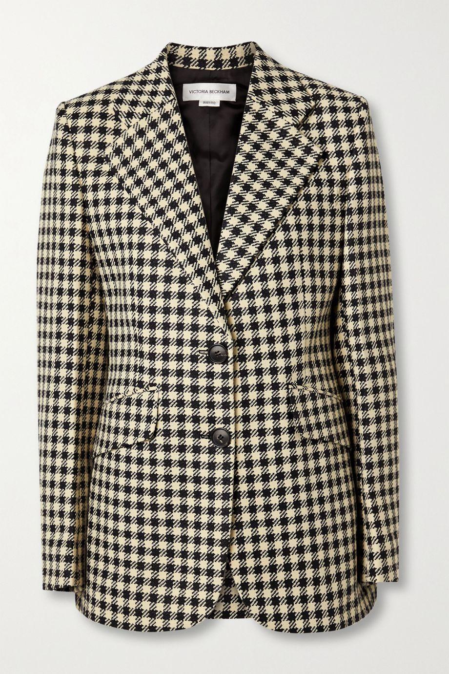 Victoria Beckham Jarvis checked woven blazer
