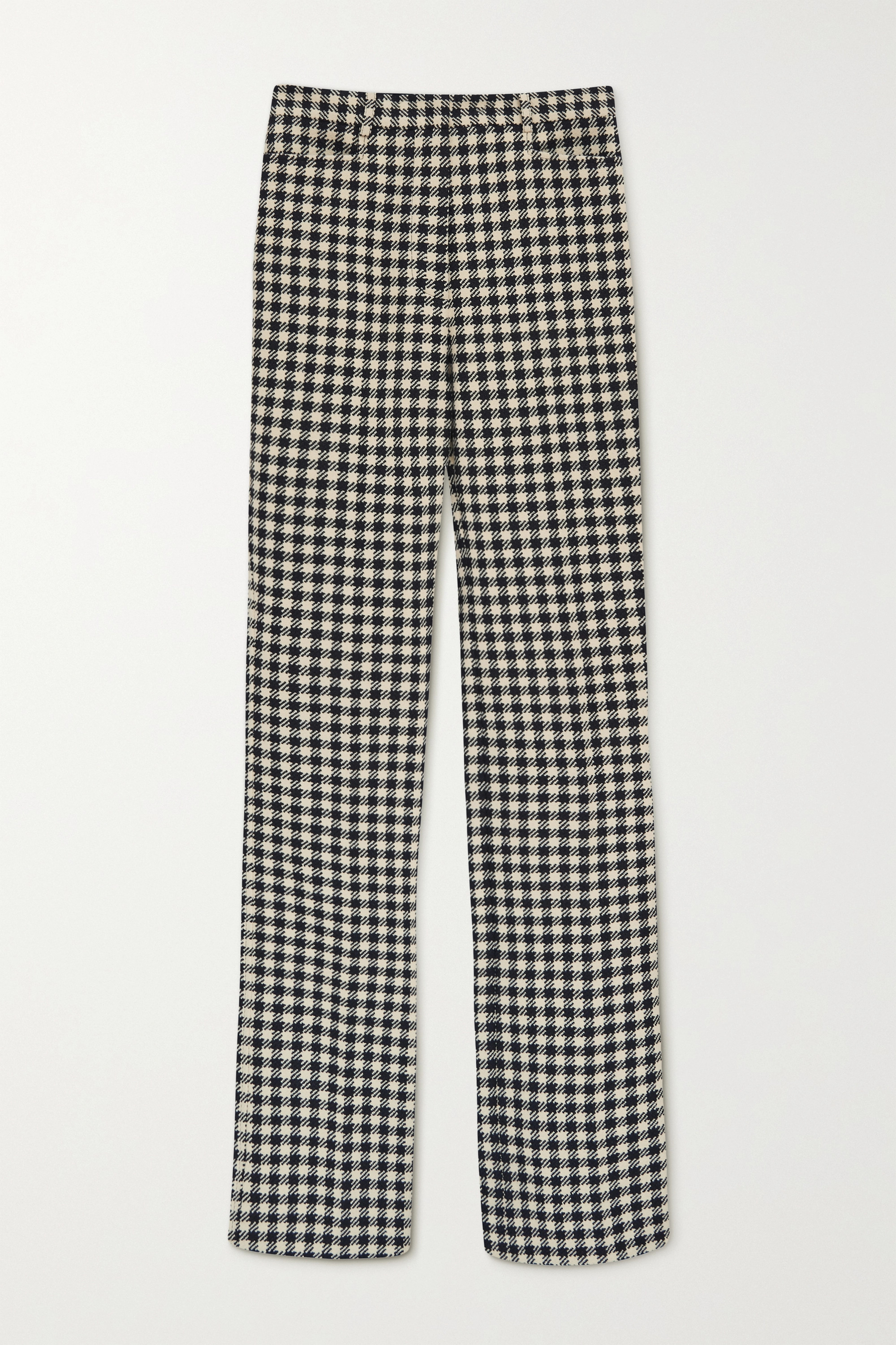 Victoria Beckham Checked woven flared pants