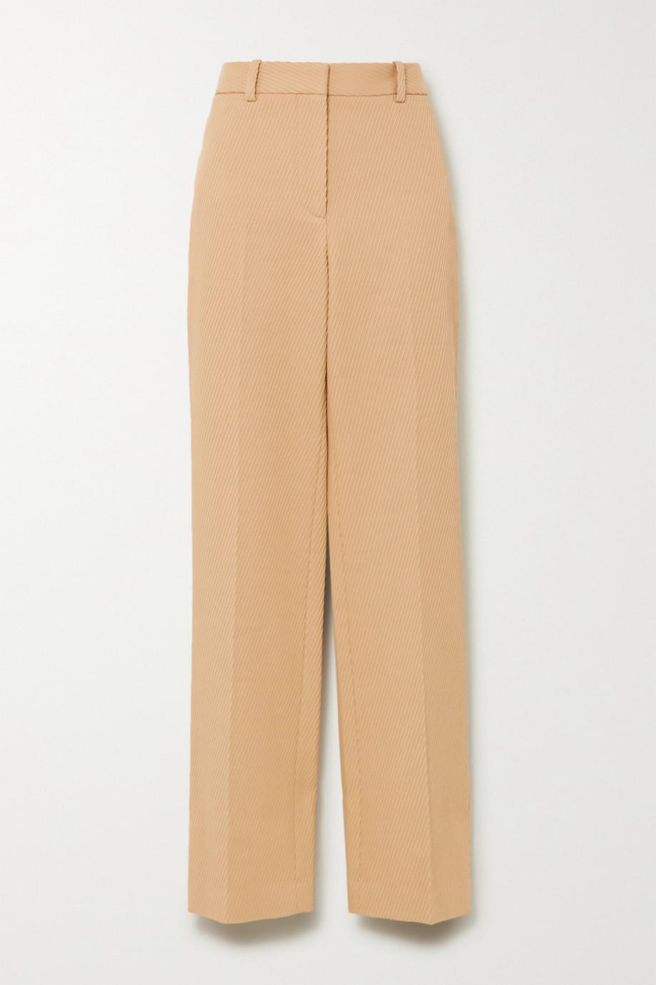 Victoria Beckham Ribbed cotton straight-leg pants