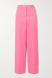 Victoria Beckham Ribbed cotton straight-leg pants