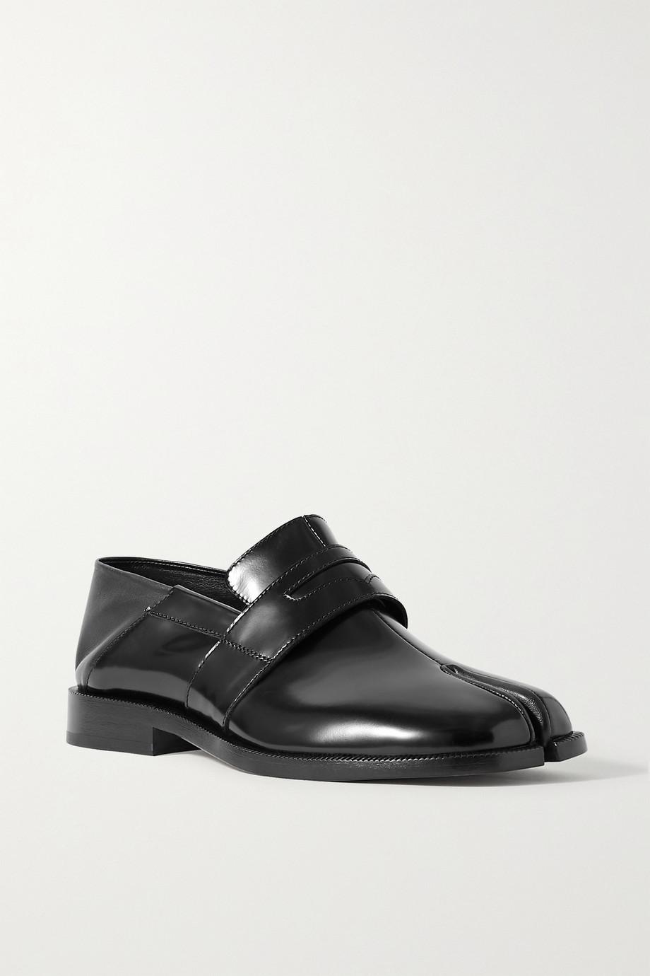 Maison Margiela 分趾漆皮折叠式后跟乐福鞋