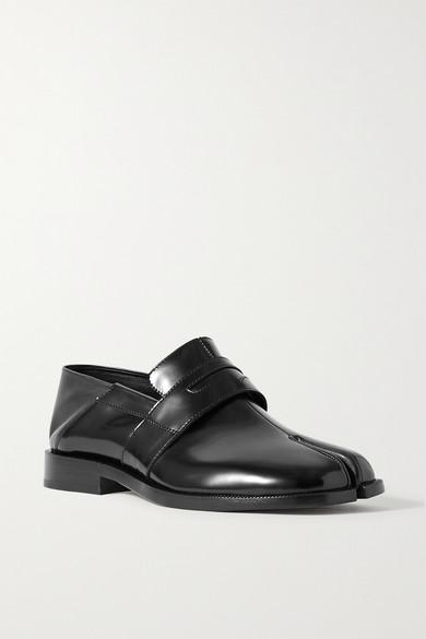 Maison Margiela Black Tabi Patent Leather Loafers