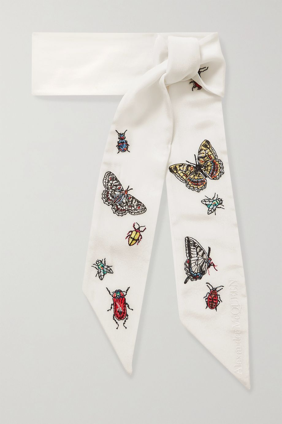 Alexander McQueen Embroidered silk scarf