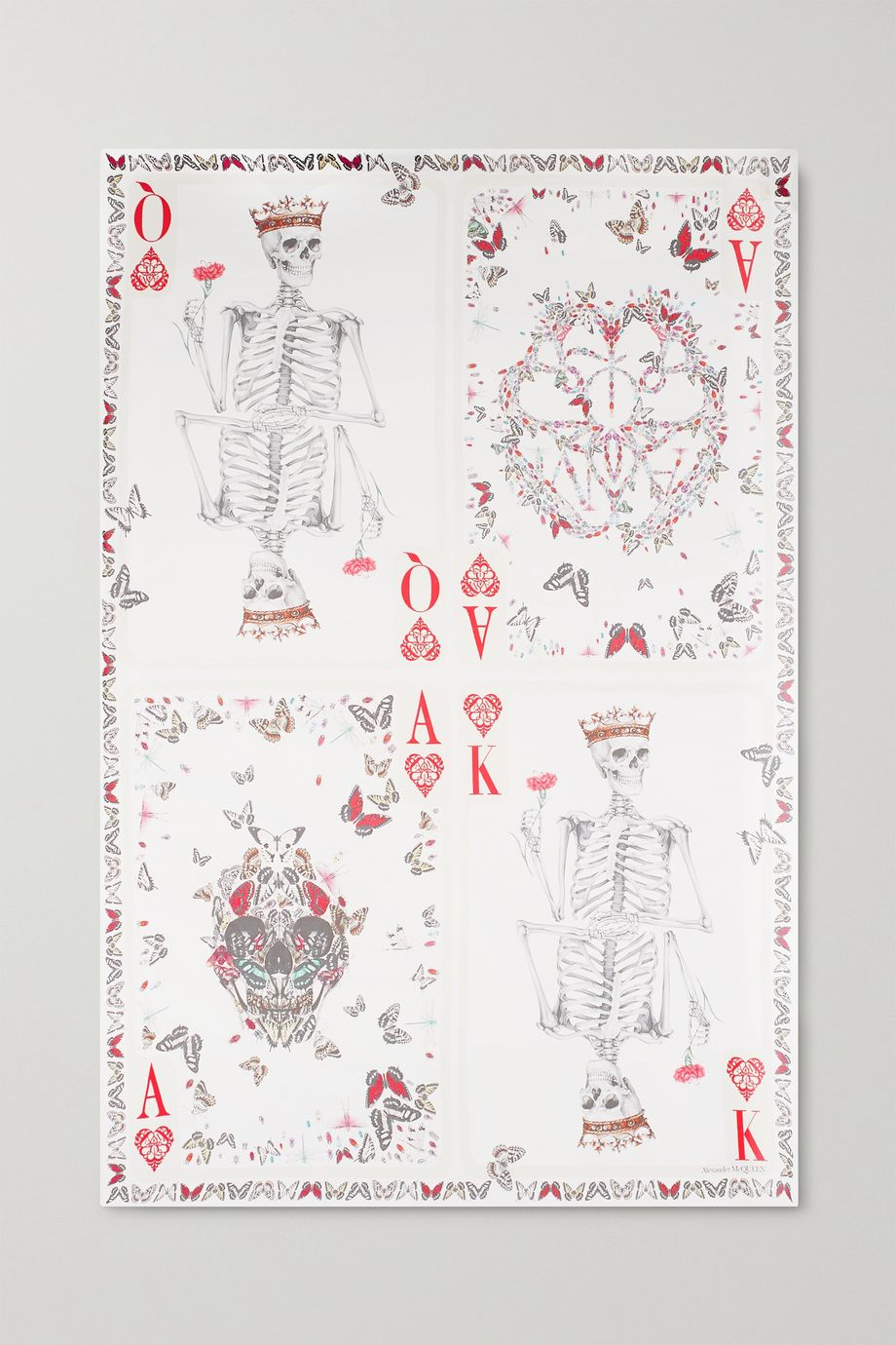 Alexander McQueen Foulard en soie imprimée