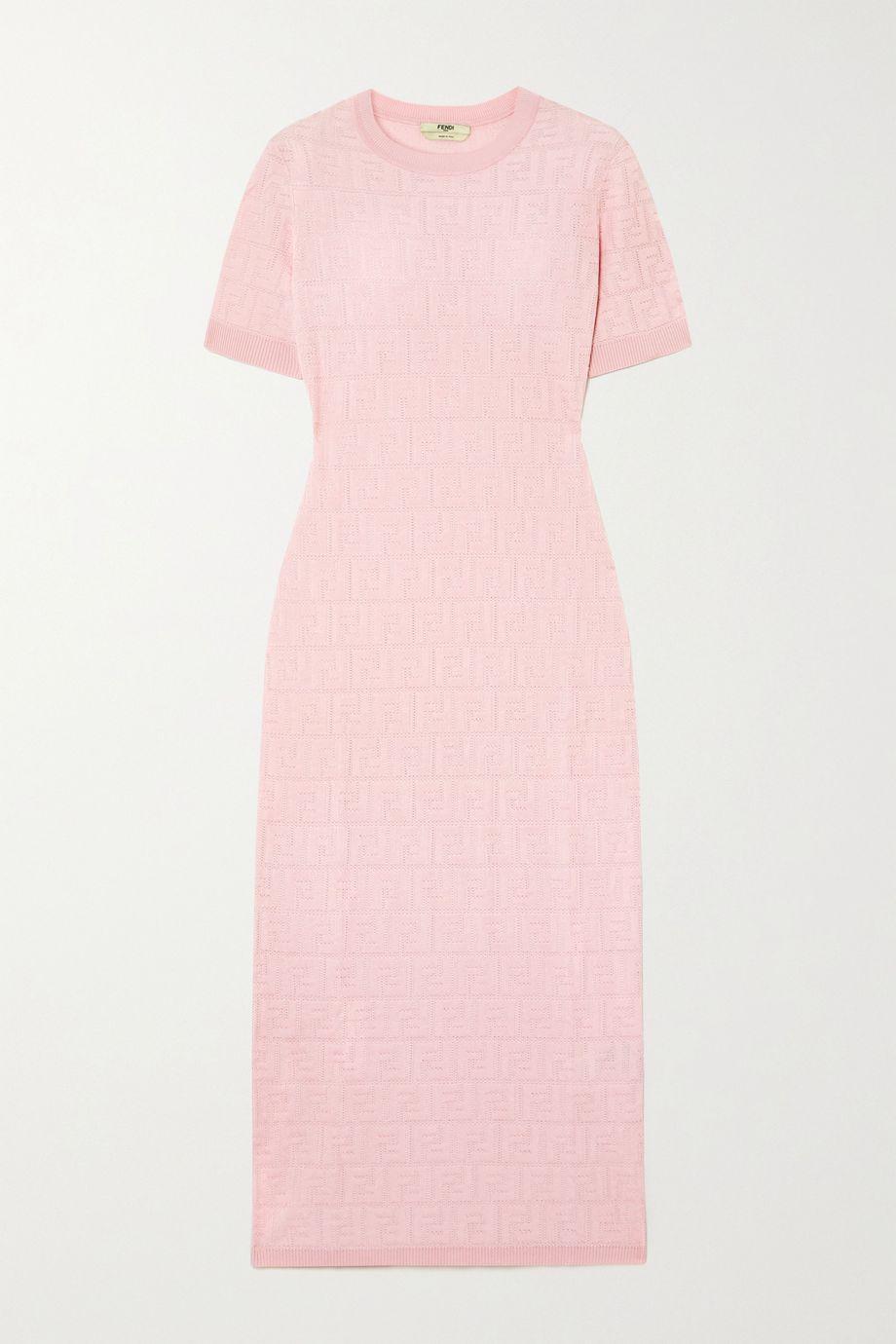 Fendi Cotton-blend jacquard midi dress